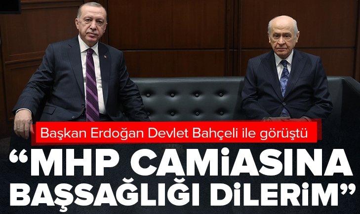 Son dakika: Başkan Erdoğan Devlet Bahçeli ile görüştü! MHP camiasına başsağlığı dilerim