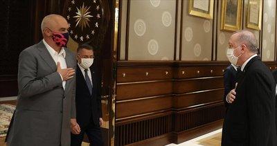 Başkan Erdoğan, Arnavutluk Başbakanı Edi Rama'yı kabul etti