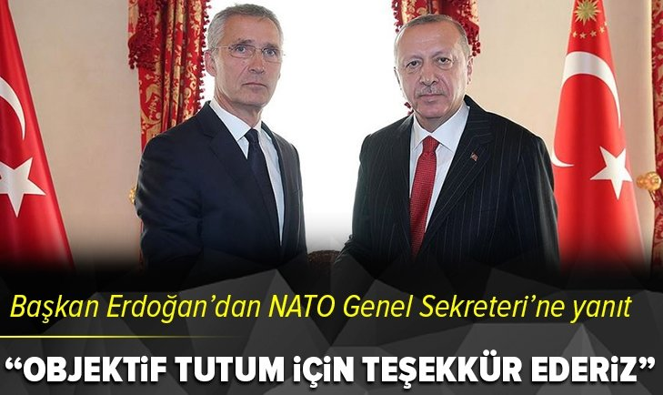 Başkan Erdoğan'dan Jens Stoltenberg'e yanıt
