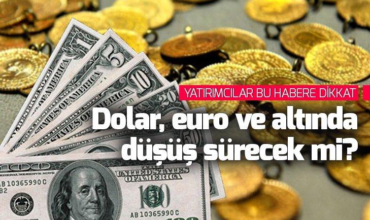 Dolar euro ve altında düşüş sürecek mi?