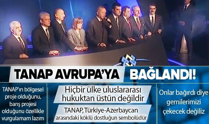 Tarihi gün! TANAP Avrupa'ya bağlandı