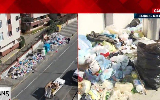 Maltepe'de son durum ne? Grevi krizi çözüldü mü? A Haber görüntüledi! Ara sokaklar çöp dolu