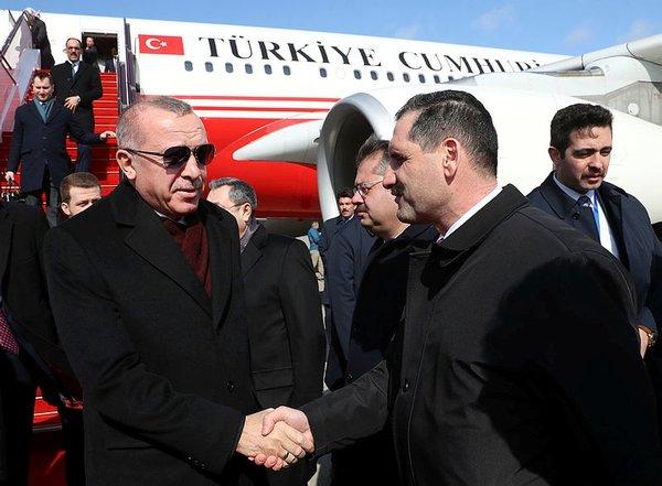 Son dakika: Başkan Erdoğan'a Azerbaycan'da resmi karşılama töreni