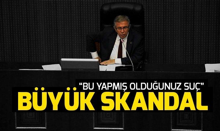 Ankara'da Mansur Yavaş'tan büyük skandal