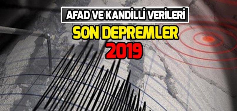 TÜRKİYE'DEKİ SON DEPREMLER!