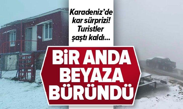 KARADENİZ'DE KAR SÜRPRİZİ!