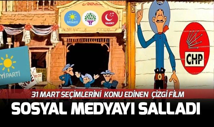 Sosyal medya bu 'çizgi filmi' konuşuyor! CHP, İyi Parti, Saadet Partisi ve HDP Daltonlar kardeşlere benzetildi