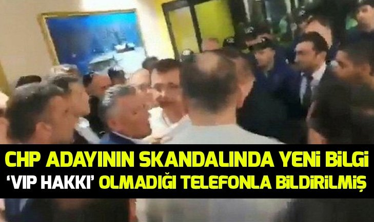İMAMOĞLU'NA 'VIP HAKKI' OLMADIĞI TELEFONLA BİLDİRİLMİŞ!