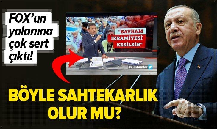 BAŞKAN ERDOĞAN'DAN FOX'UN YALANINA SERT TEPKİ!