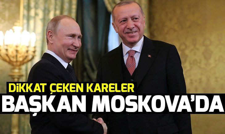 Başkan Erdoğan Rusya'da Putin ile bir araya geldi
