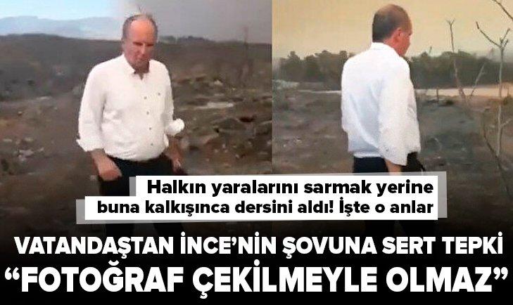 Muharrem İnce'nin Antalya şovuna vatandaştan sert tepki: Fotoğraf çekilmeyle olmaz