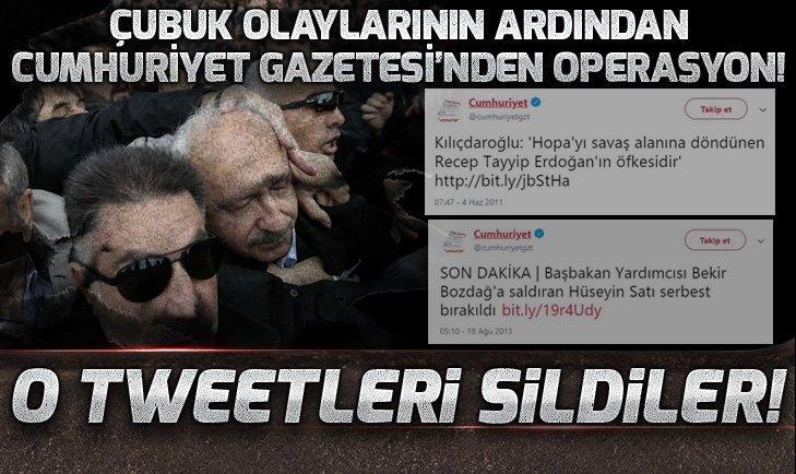 ÇUBUK OLAYLARININ ARDINDAN CUMHURİYET GAZETESİNDEN OPERASYON!