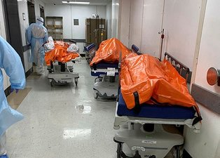 Son dakika haberi: ABD'den şok görüntü! Corona virüs nedeniyle cesetler...
