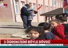 Öğrencilerini tekme tokat dövdü! O anlara kameralara yansıdı