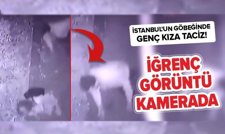 İSTANBUL'UN GÖBEĞİNDE GENÇ KIZA TACİZ KAMERADA!