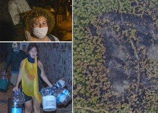 Heybeliada'da yanan alan havadan fotoğraflandı