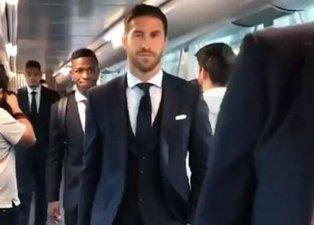 Real Madrid kafilesinden çarpıcı görüntü! Ramos...