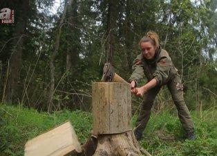 Genç kadın ormanda yaptıklarıyla olay oldu! Görenler gözlerine inanamadı