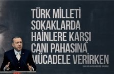 Başkan Erdoğan'dan 15 Temmuz destanına 'tiyatro' diyenlere tepki