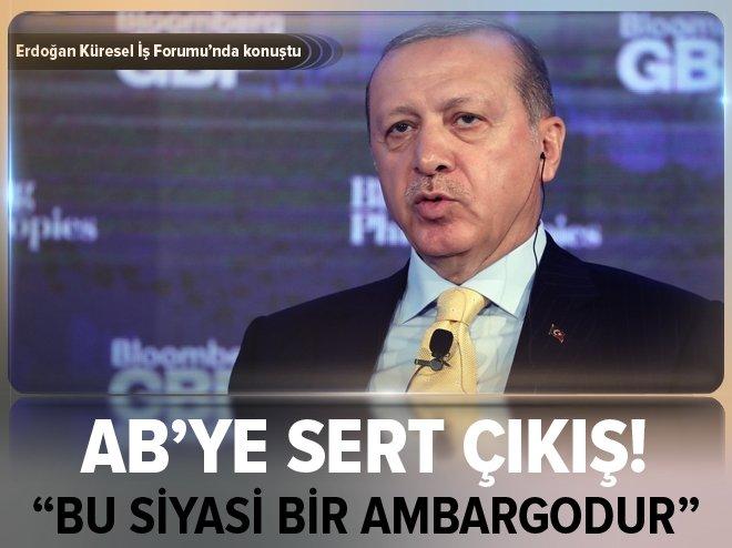 Cumhurbaşkanı Erdoğan: Türkiye'ye uygulanan siyasi bir ambargodur