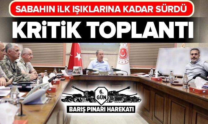 BAKAN AKAR VE FİDAN'DAN KRİTİK TOPLANTI