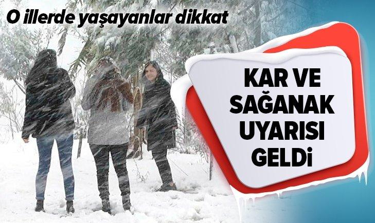 METEOROLOJİ'DEN KAR YAĞIŞI UYARISI!
