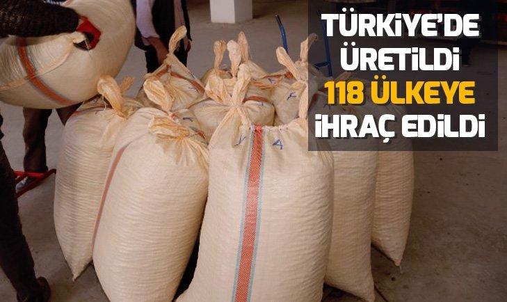 TÜRKİYE'DE ÜRETİLDİ 118 ÜLKEYE İHRAÇ EDİLDİ