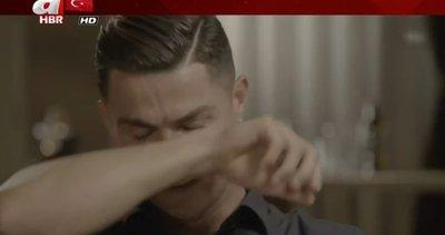 Cristiano Ronaldo'nun duygusal anları! Babasının görüntüleri görünce…