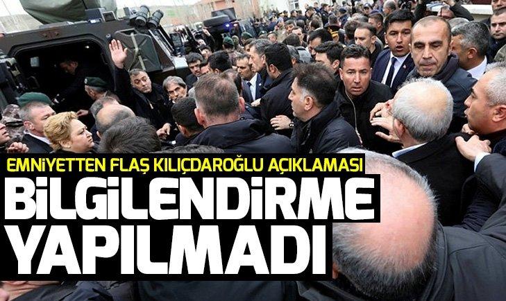 Ankara Emniyet Müdürlüğü'nden Kemal Kılıçdaroğlu açıklaması