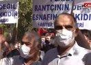 Servisçilerden İBB önünde plaka eylemi!