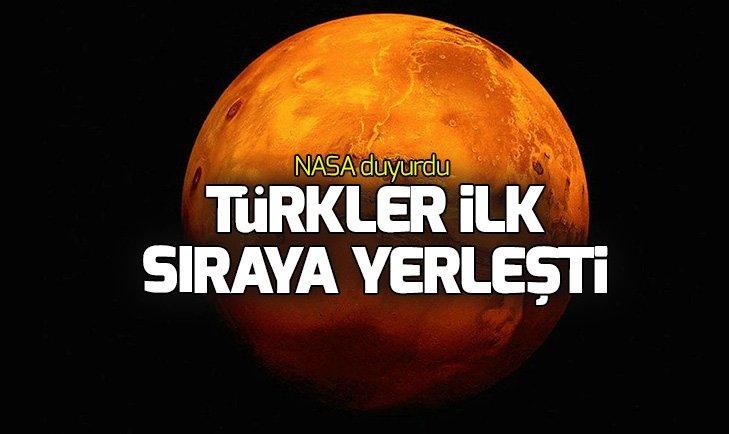 NASA DUYURDU! TÜRKLER BİRİNCİ OLDU