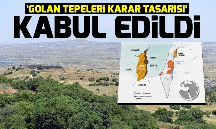 BM İnsan Hakları Konseyi 'Golan Tepeleri karar tasarısı'nı kabul etti