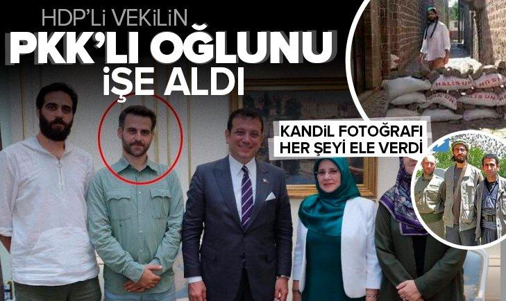 Ekrem İmamoğlu HDP'li vekil Hüda Kaya'nın PKK'lı oğlu Muhammed Cihad'ı işe aldı