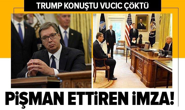 Vucic'i pişman ettiren imza!