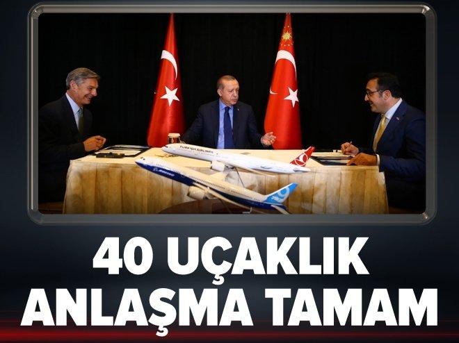 Erdoğan, THY ile Boeing arasındaki anlaşmanın imza törenine katıldı