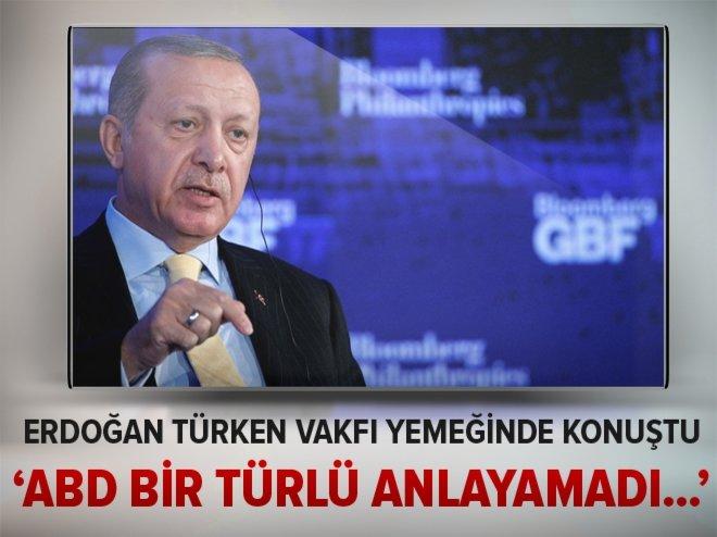 Cumhurbaşkanı Erdoğan TÜRKEN Vakfı yemeğinde konuştu