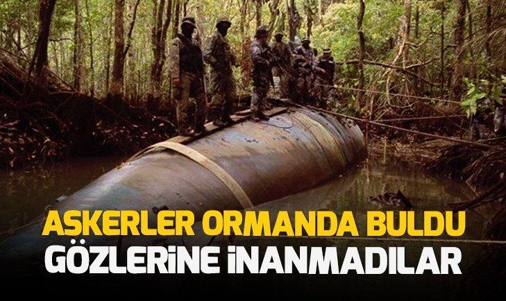 ASKERLER ORMANDA BULDU GÖZLERİNE İNANAMADI