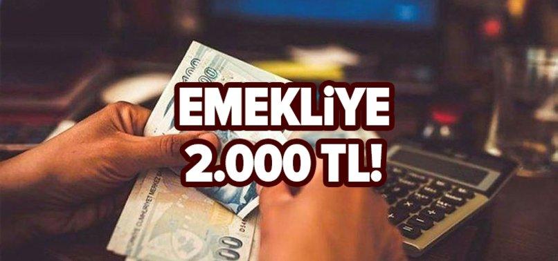 Milyonlara bayram ikramiyesi müjdesi: Emekliye 2.000 TL!