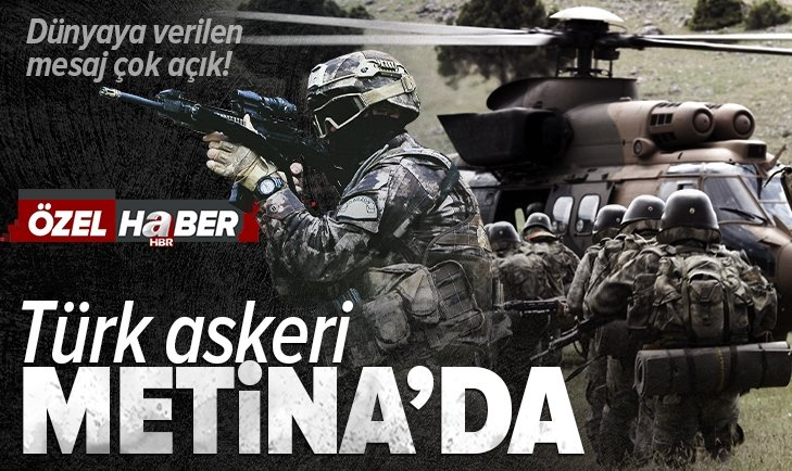 Metina'ya hava destekli kara harekatı! Irak'ın kuzeyindeki PKK hedefleri ağır şekilde vuruluyor