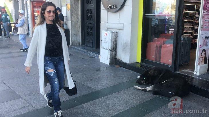"""Taksim'de """"köpek"""" paniği! Önüne geleni ısırdı"""