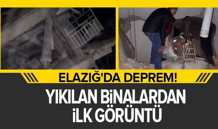 SON DAKİKA: ELAZIĞ'DA MEYDANA GELEN 6,8'LİK DEPREMDE YIKILAN BİNALARDAN İLK GÖRÜNTÜ!