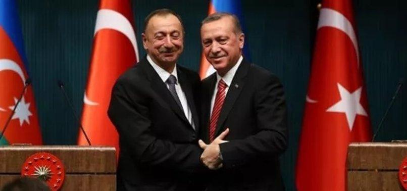 Azerbaycan Cumhurbaşkanı Aliyev'den Başkan Erdoğan'a teşekkür