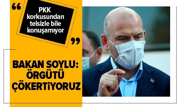 Son dakika: Bakan Soylu: Örgütü çökertiyoruz! PKK korkusundan telsizle bile konuşamıyor