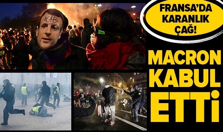 Fransa'da karanlık çağ! Macron kabul etti