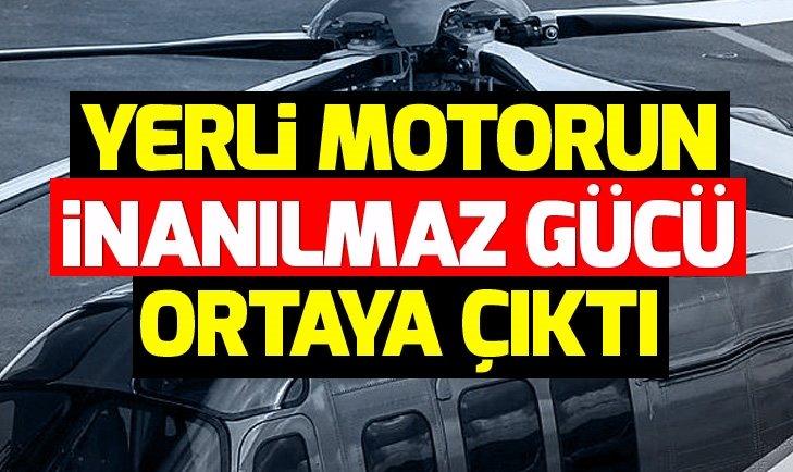 Yerli helikopter T625'in motorunun gücü test edildi
