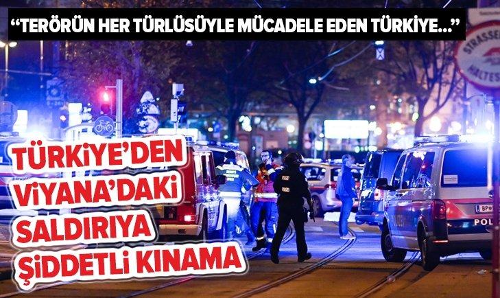 Türkiye'den Viyana'daki terör saldırısına şiddetli kınama