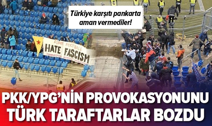 BASEL - TRABZONSPOR MÜCADELESİNDE PKK/YPG PROVOKASYONU!