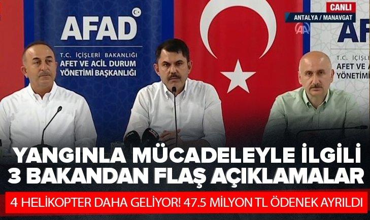 Son dakika: Devam eden yangınlarda son durum! Bakan Çavuşoğlu ve Bakan Karaismailoğlu'ndan flaş açıklamalar