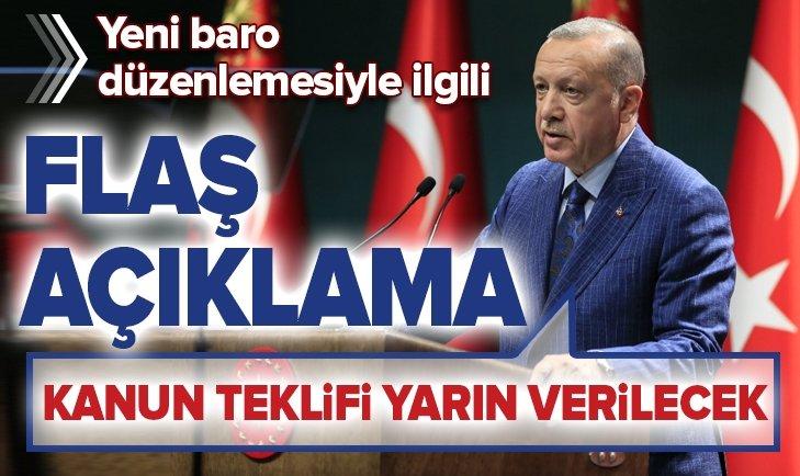 Başkan Erdoğan'dan yeni baro düzenlemesiyle ilgili flaş açıklama