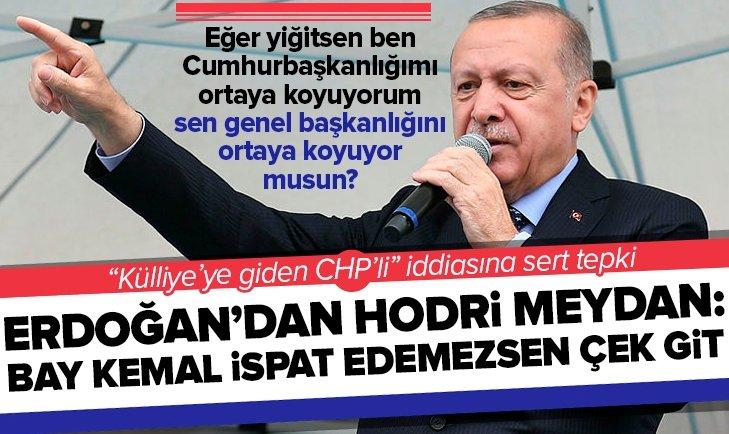 Erdoğan'dan Külliye'ye giden CHP'li iddiasıyla ilgili Kılıçdaroğlu'na hodri meydan